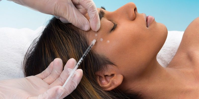 Botox injections for wrinkles skin renewal